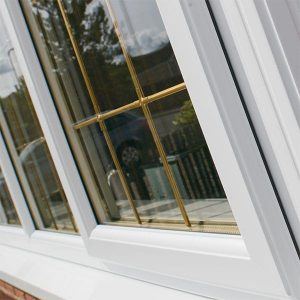 Triple glazing with leaded details
