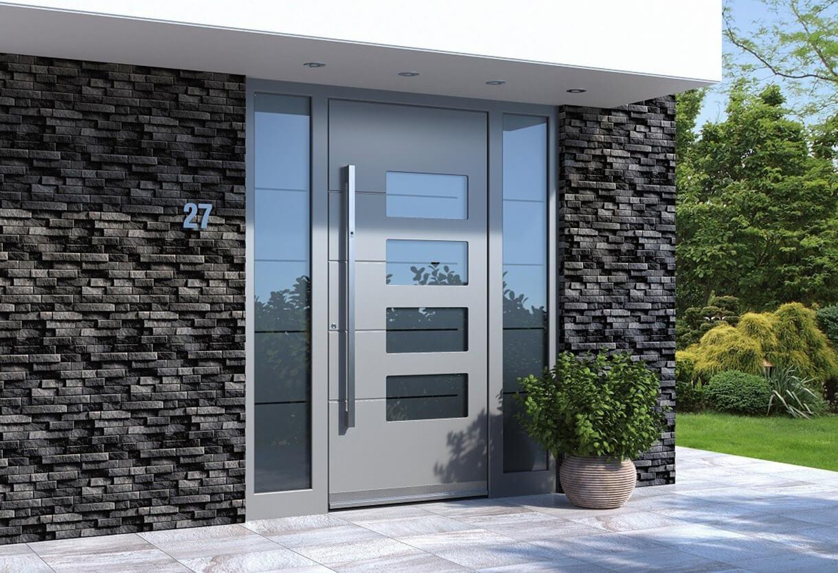 Aluminium front door installation in Torquay, Devon ...  |Aluminium Front Doors
