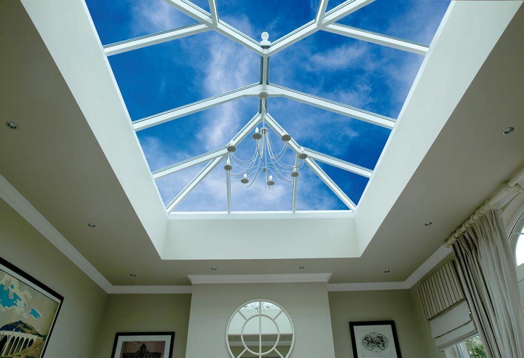 Aluminium skylight interior view