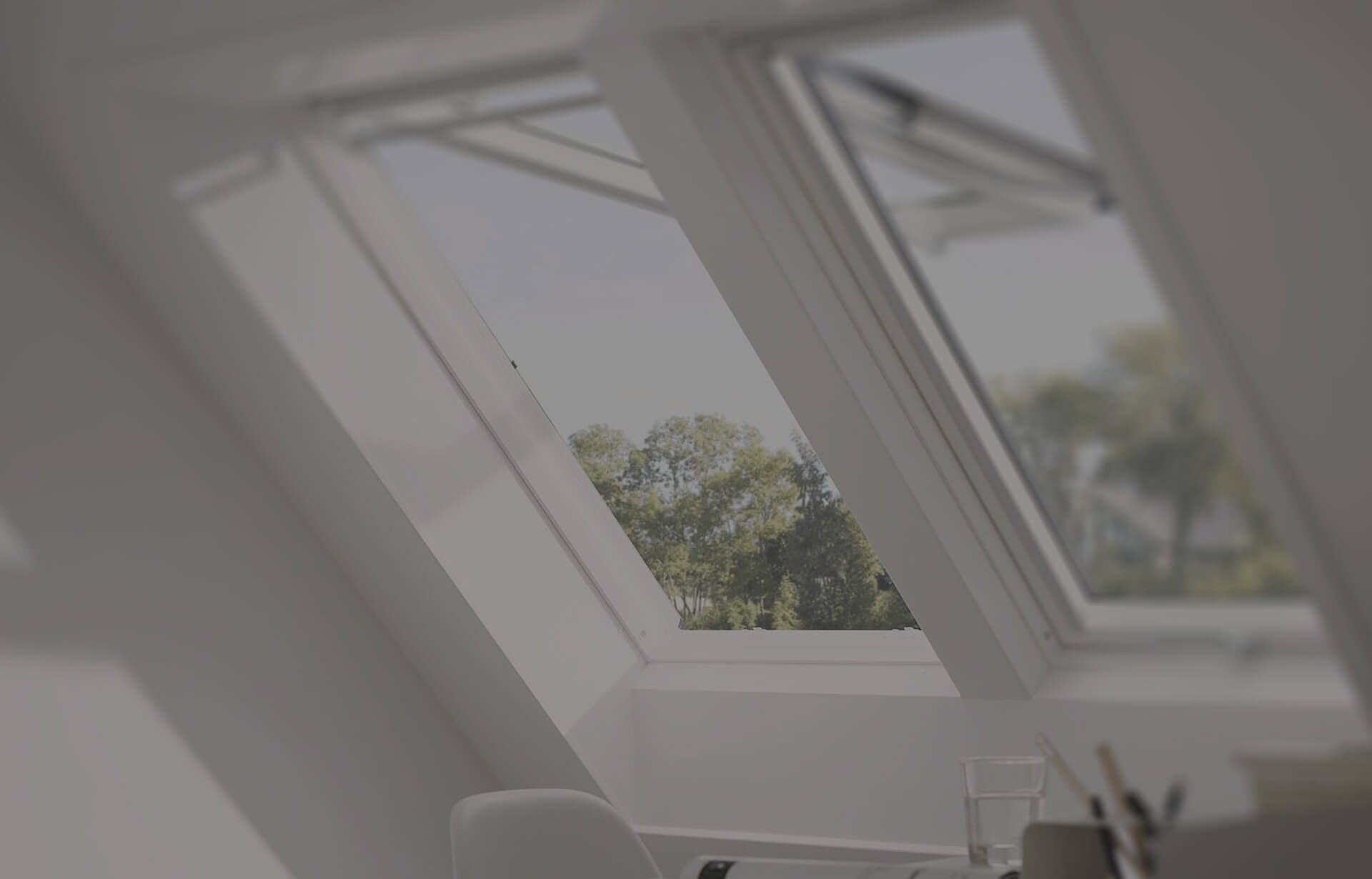 White Velux windows interior view