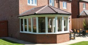 Victorian conservatory with a tiled roof