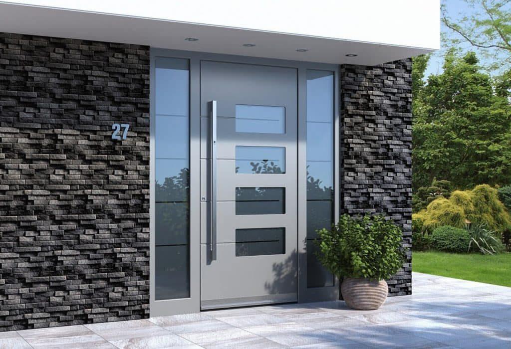 Contemporary aluminium entrance door